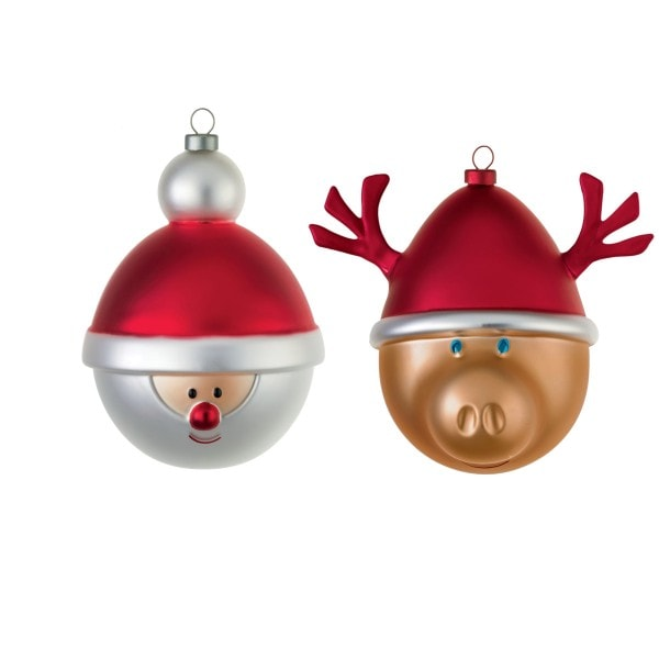 Alessi Weihnachtsbaumkugel Set Santa & Rentier