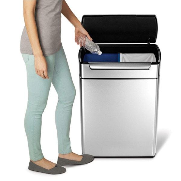 Simplehuman Abfalleimer touch-bar Recycler