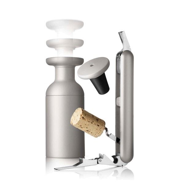Menu SET Kellnermesser und Vakuumverschluss ash