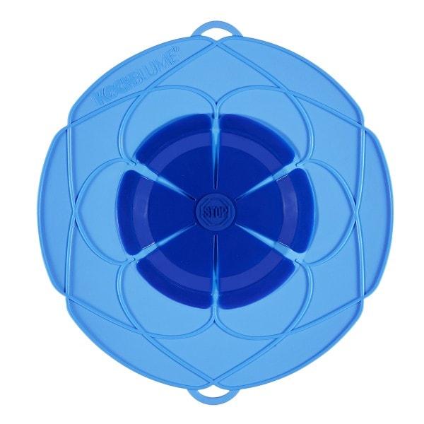 Kochblume Überkochschutz blau 33 cm
