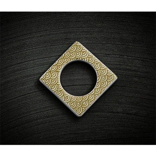 Cult Design Manschette für Teelichthalter gold weiß