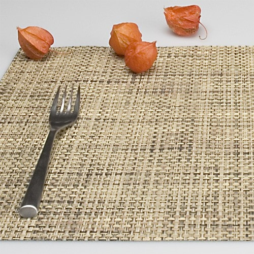Chilewich Tischset BASKETWEAVE bark - 2er Set
