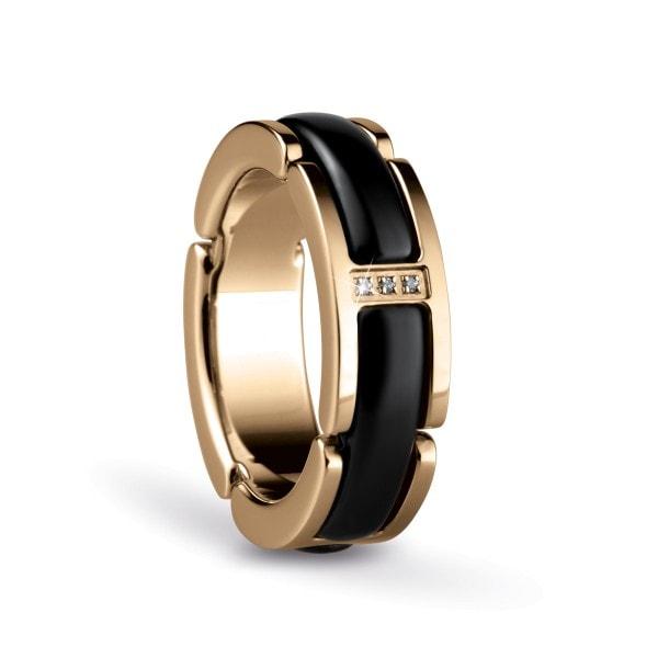 Bering Time Ring gold-schwarz 50mm