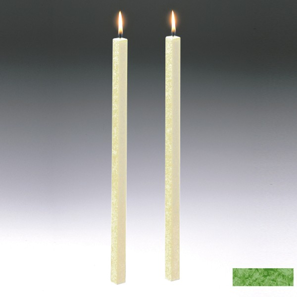 Amabiente Kerze CLASSIC Grasgrün 40cm - 2er Set