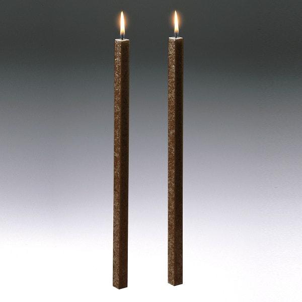 Amabiente Kerze CLASSIC kaffee 40cm - 2er Set