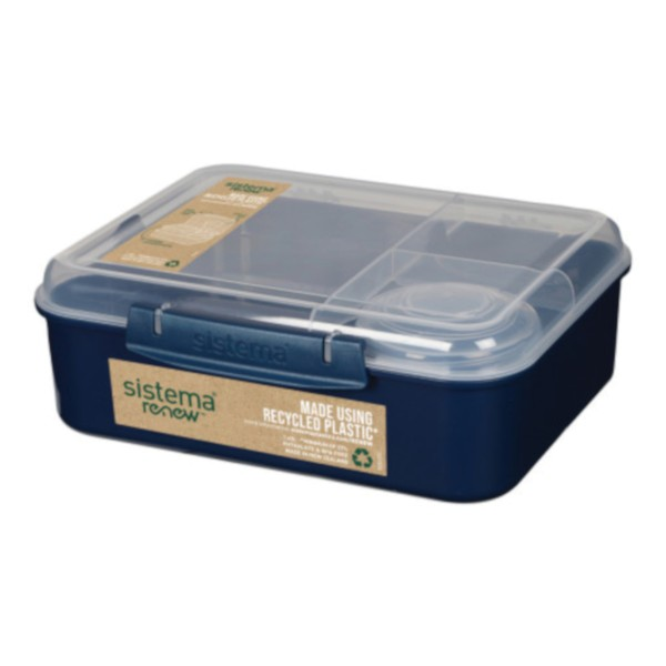 Bento Lunchbox To Go, unterteilt, Renew