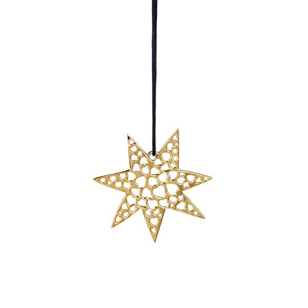 Rosendahl Weihnachtsbaumschmuck Herzstern vergoldet