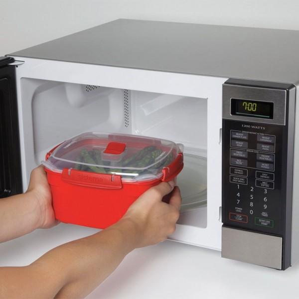 sistema Mikrowellen Dampfgarer 2.4 l, rot