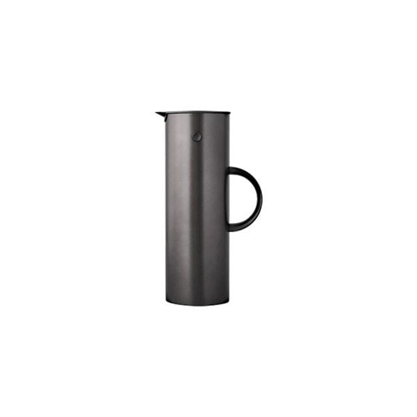 Stelton EM77 Stahl-Isolierkanne 1L, metallic schwarz