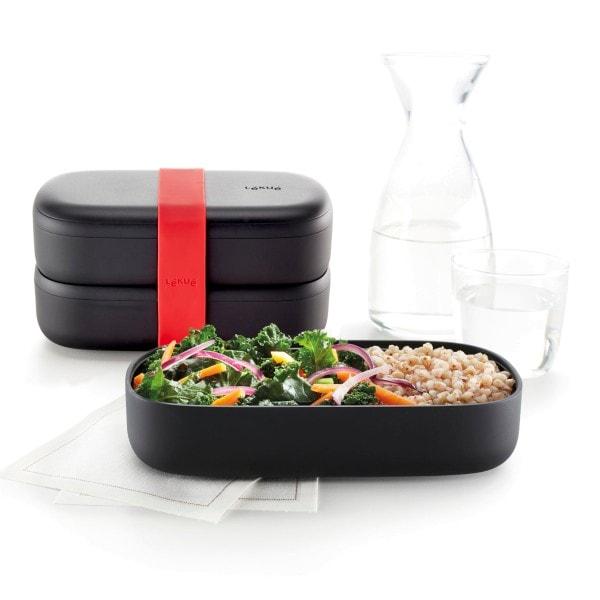 Lekue Lunchbox Bento to go, schwarz