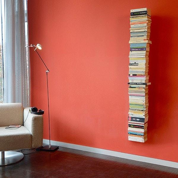 Radius Booksbaum 2, Bücherregal, Wand gross, silber