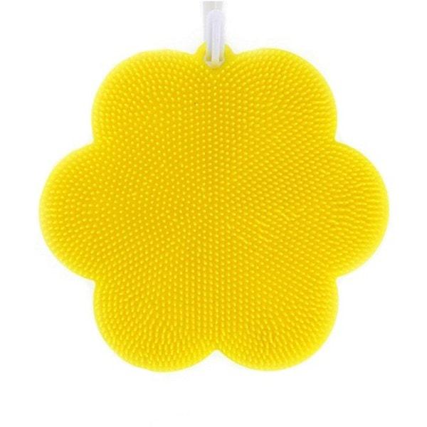 SWISCH Silikonschwamm & Fusselbürste - Blume gelb