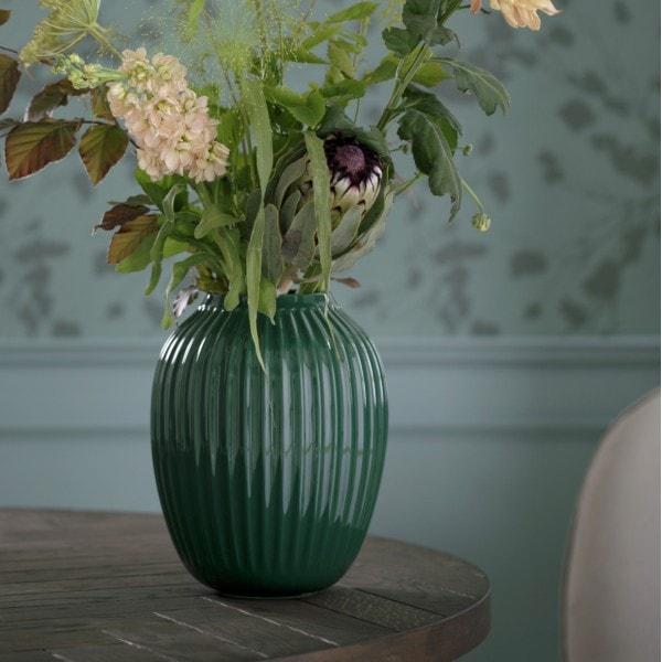 Kähler Vase Hammershøi 20 cm, grün