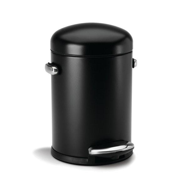 Simplehuman Abfalleimer 4.5 l rund Retro schwarz