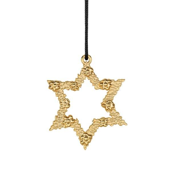 Rosendahl Weihnachtsbaumschmuck - Blumenstern gold