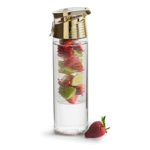 Sagaform Flasche mit Früchteeinsatz, gold