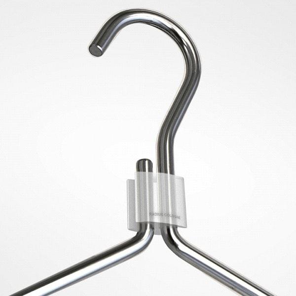 Radius Kleiderbügel Clip, transparent
