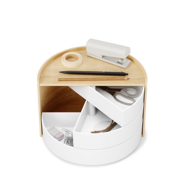 Umbra Aufbewahrungsbox MOONA weiß-natur