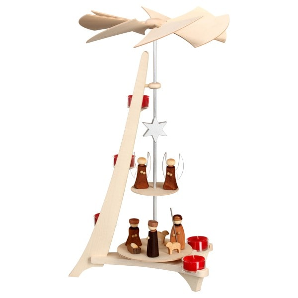 Pyramide groß, Christi Geburt und Engel, 50 cm