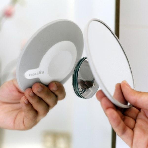 Bosign Kosmetikspiegel magnetisch hellgrau