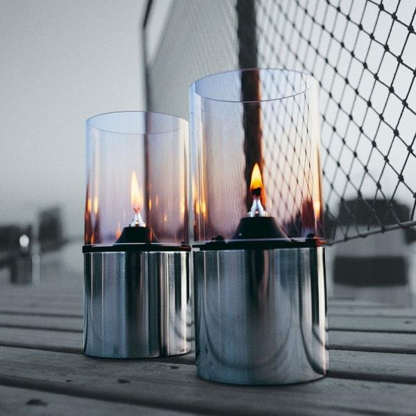 Stelton Öllampe mit Glasschirm klar 1005