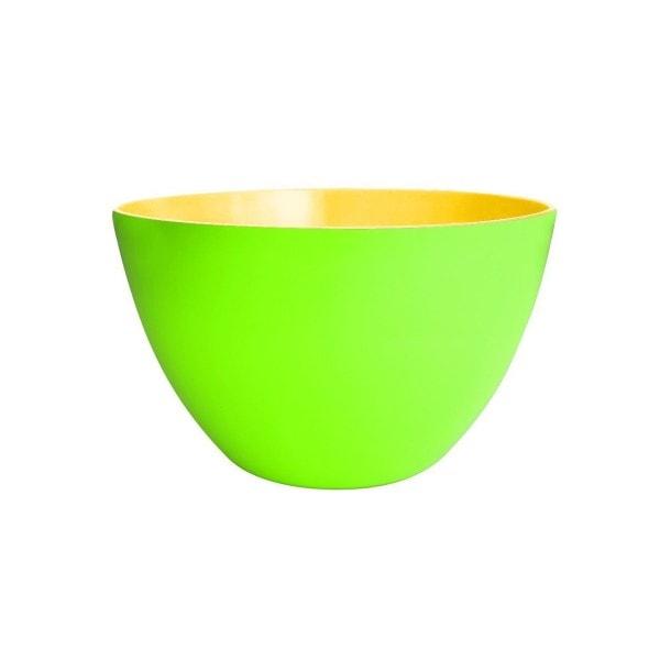 Zak designs Schüssel DUO 22 cm grün-gelb