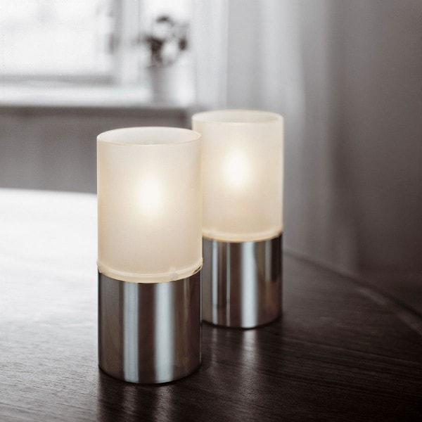 Stelton Öllampe mit Glasschirm satiniert 1006
