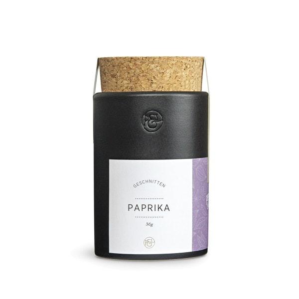 Pfeffersack & Soehne Paprika geschnitten im Keramiktopf