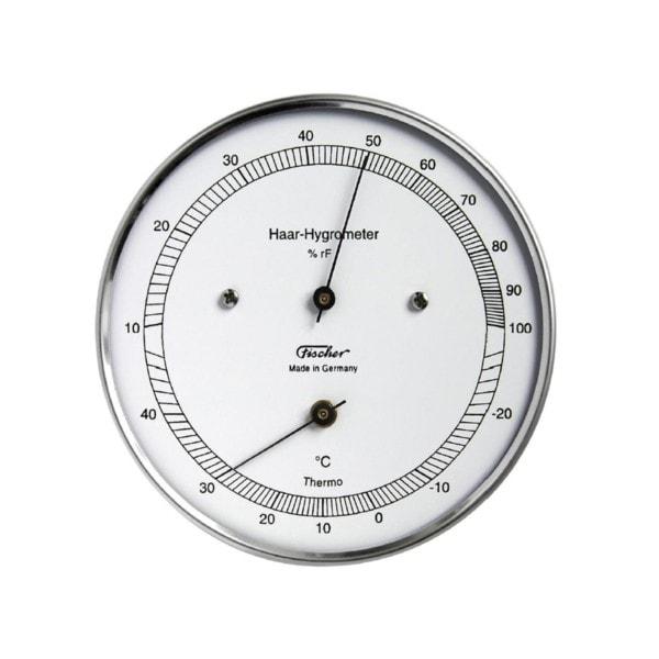 Fischer Echthaar Hygrometer mit Thermometer, Außen