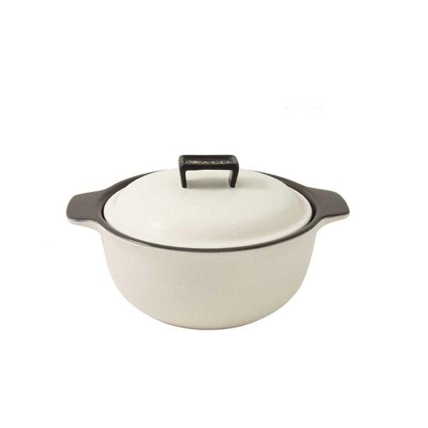 WALD Keramik-Kochtopf mittelgroß, weiß