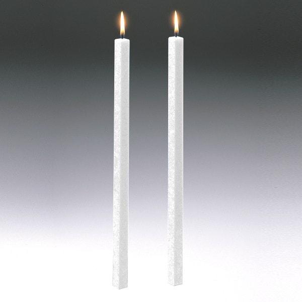 Amabiente Kerze CLASSIC weiß 40cm - 2er Set