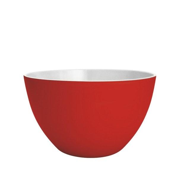 Zak designs Schüssel DUO 18cm rot-weiß