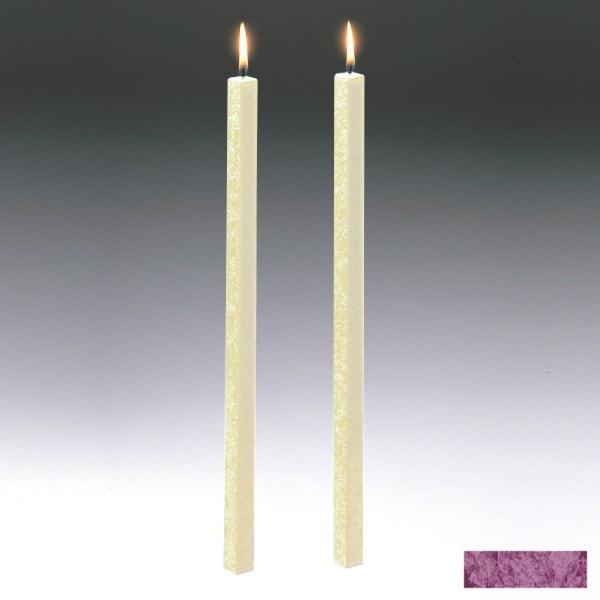 Amabiente Kerze CLASSIC Purpur 40cm - 2er Set