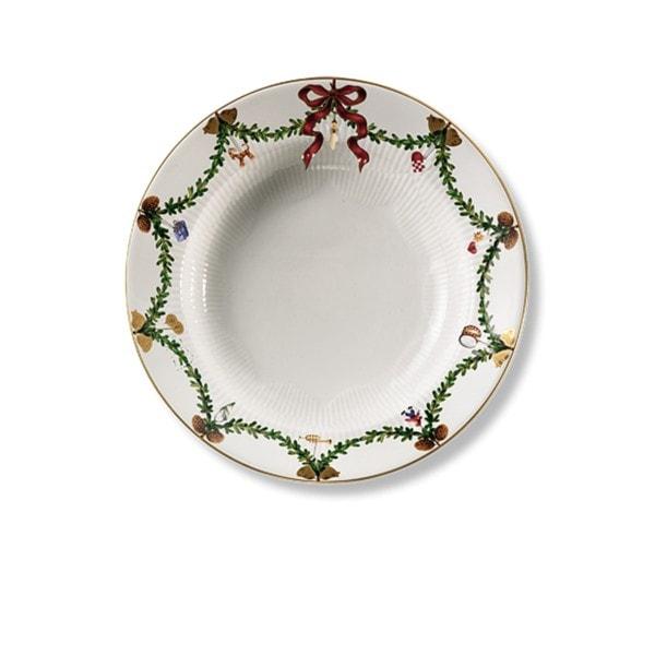 ROYAL COPENHAGEN Teller, tief Star Fluted Christmas 24 cm