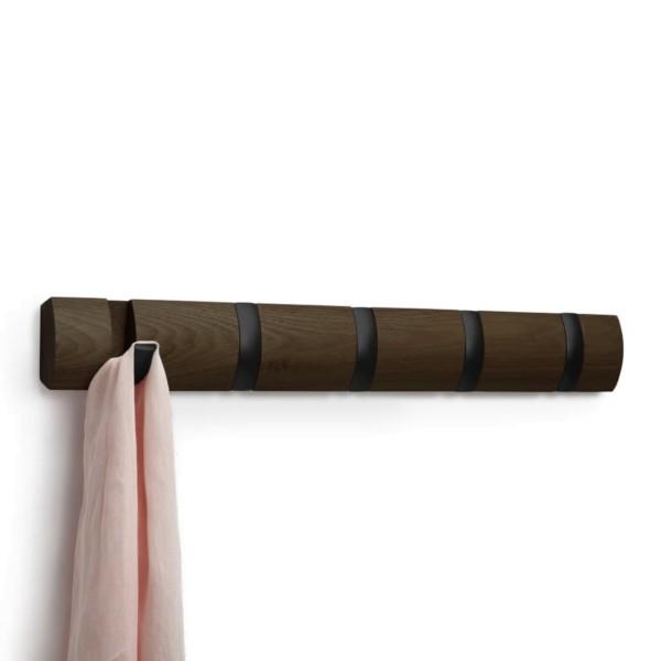 Umbra FLIP HOOK 5 Kleiderhaken, dunkelbraun