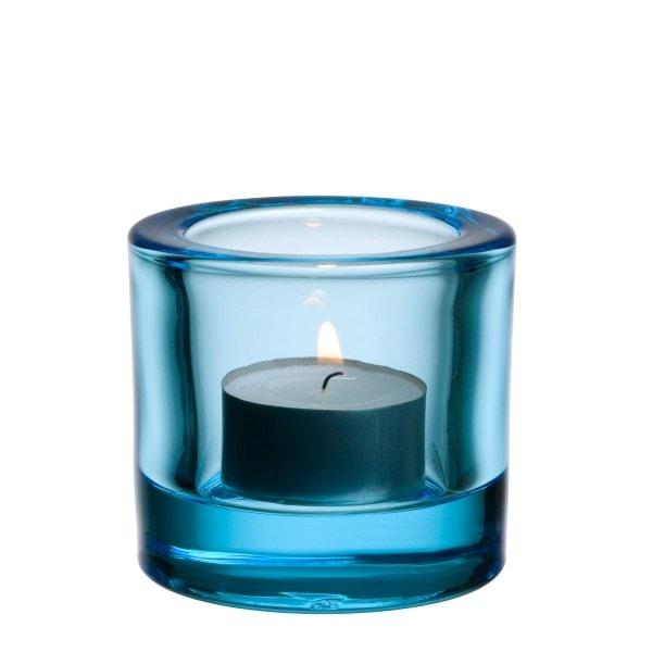 Iittala Teelichthalter KIVI hellblau 6 cm
