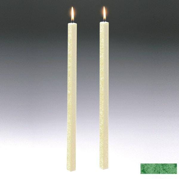Amabiente Kerze CLASSIC Blattgrün 40cm - 2er Set
