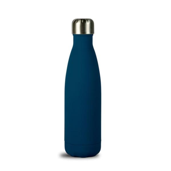 Sagaform Trinkflasche 0.5 l, blau gummiert