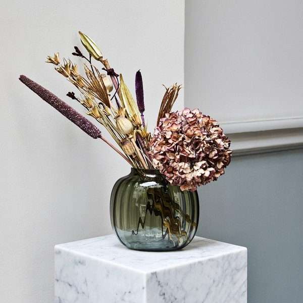 Holmegaard Ovale Vase PRIMULA 17.5 cm, smoke