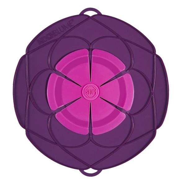 Kochblume Überkochschutz lila-pink 25.5 cm