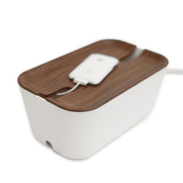 Bosign Kabelbox HIDEAWAY M weiß - braun