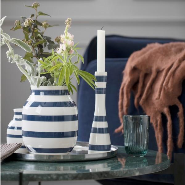 Kähler Vase Omaggio M blau-weiß