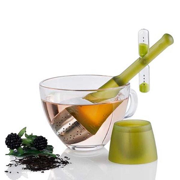 AdHoc Teefilter TEA TIME mit drehbarer Sanduhr, grün