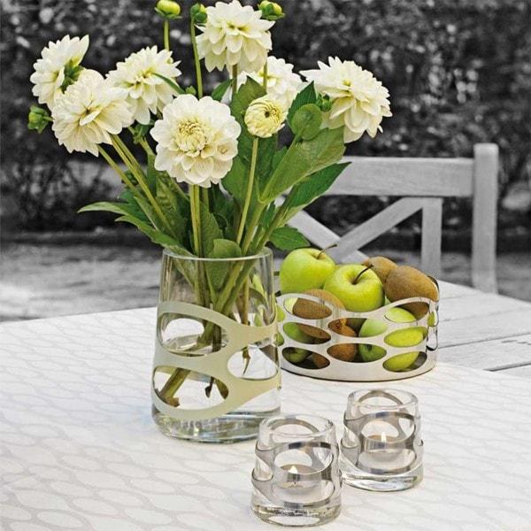 Stelton Vase EMBRACE olive 16.5cm