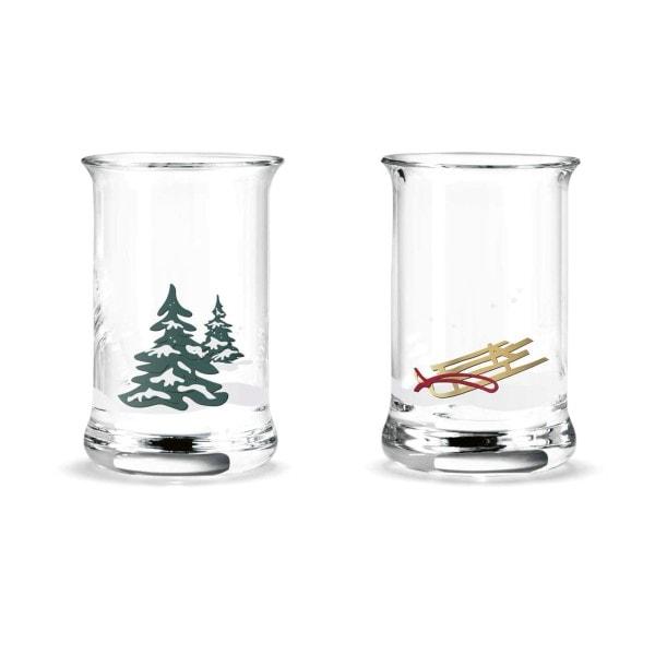 Holmegaard Schnapsglas Weihnachten 2er-Set, 3 cl