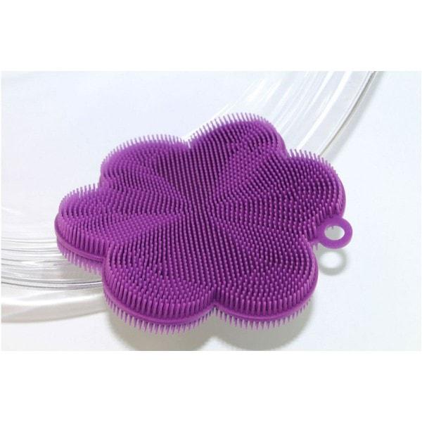 SWISCH Silikonschwamm und Fusselbürste lila