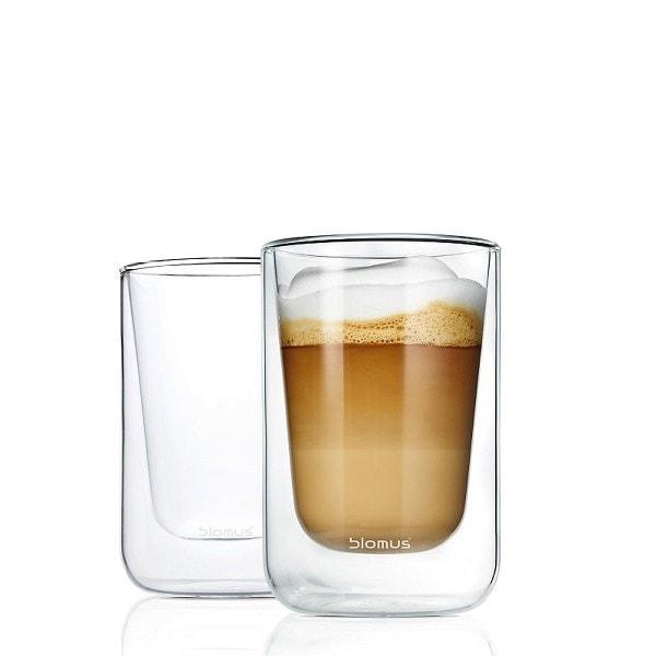 BLOMUS Cappuccino Gläser NERO, 2er Set