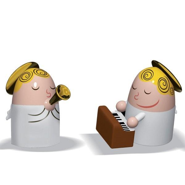 Alessi Figur ANGELS BAND Klavier und Saxophon - 2er Set