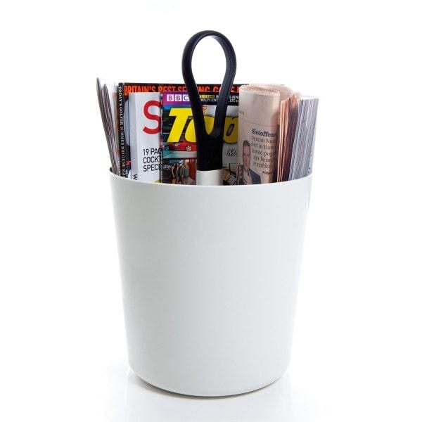 Royal VKB tragbarer Zeitschriftenhalter weiß - Griff anthrazit
