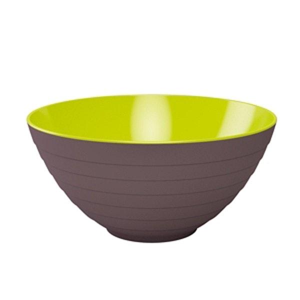 Zak designs Schüssel WAVE 28 cm stein-kiwi